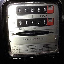 Elektriciteitsmeter met dubbel telwerk (dagtarief - nachttarief), welke moet ik aflezen?: afbeelding 3